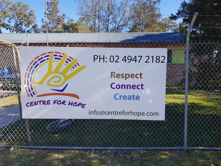 Business banner for Centre for Hope