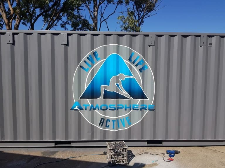 vinyl wrap signage for shipping containers