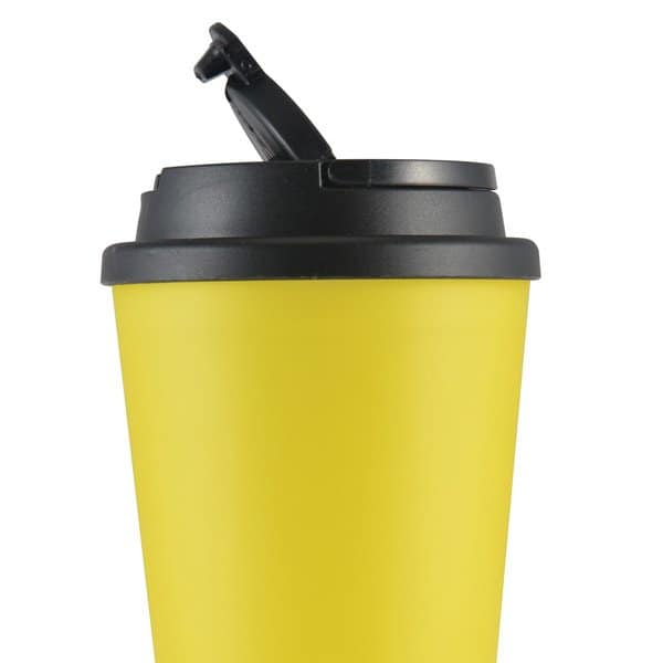 Aroma Coffee Cup with Handle Lid - Flip Up Lid