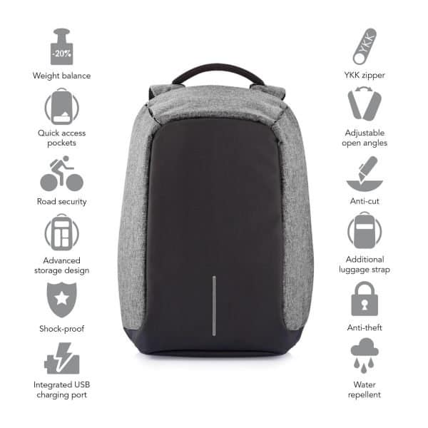 Bobby Anti Theft Backpack Specs