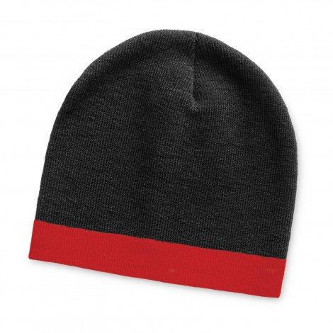 Commando Beanie Two Tone - Black and Red