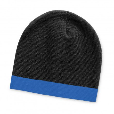Commando Beanie Two Tone - Black and Blue