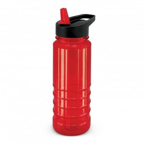 Triton Bottle Black Lid - Red