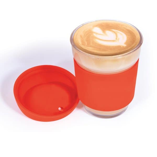 Vienna Glass Coffee Cup with coffee and no branding
