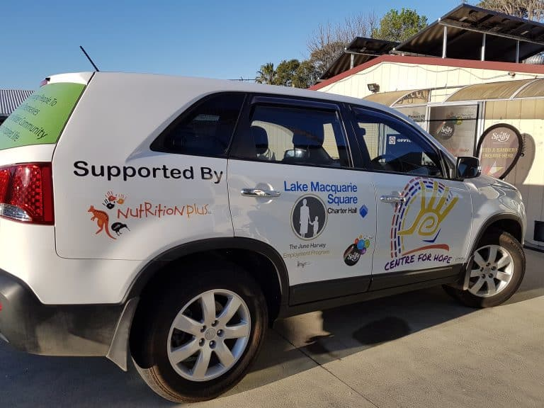 Centre For Hope business vehicle signage