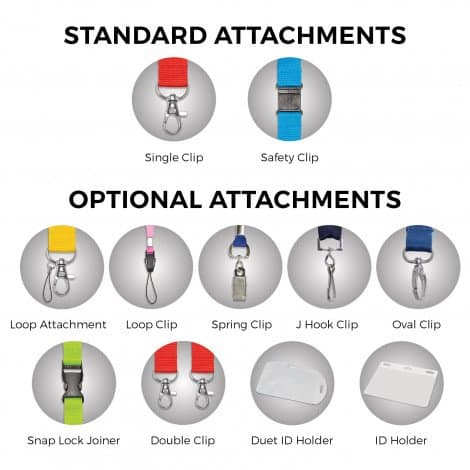 Colour Max Lanyard - standard attachments