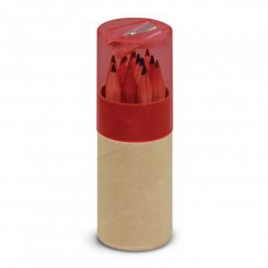 Coloured Pencil Tube - Red