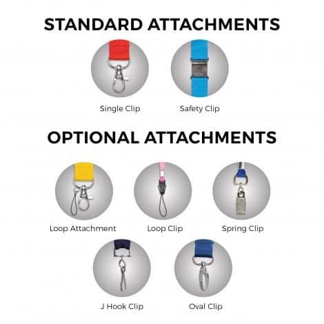 Crest Lanyard - standard attachments