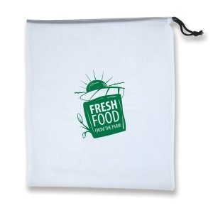 Harvest Produce Bags in Pouch with branding