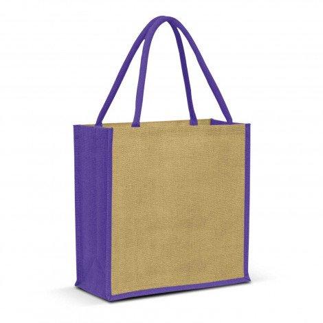 Monza Jute Tote Bag - Purple