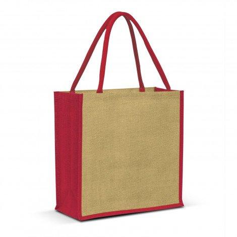 Monza Jute Tote Bag - Red