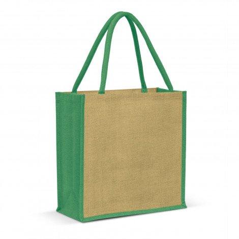 Monza Jute Tote Bag - Green