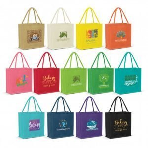 Monza Jute Tote Bag Colour Match range
