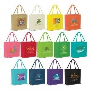 Monza Jute Tote Bag Colour Match range