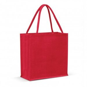 Monza Jute Tote Bag Colour Match - Red