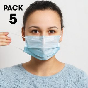 Pack of 5 Disposable 3 Ply Face Mask