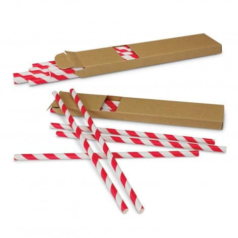 Paper Drinking Straws - Red