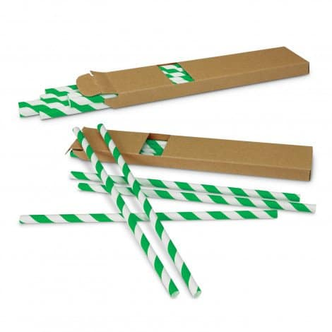 Paper Drinking Straws - Green
