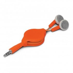 Retractable Earbuds - Orange