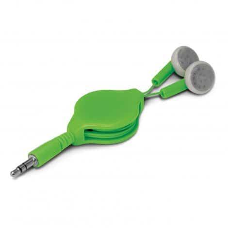Retractable Earbuds - Green