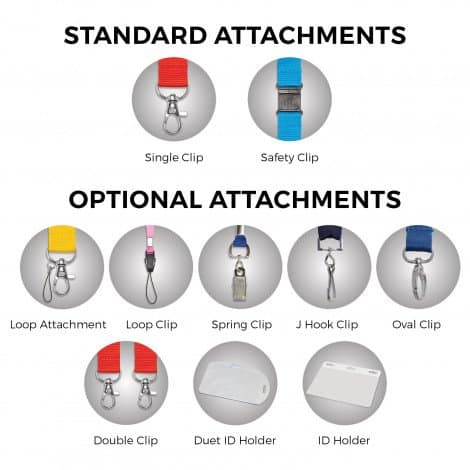 Silicone Lanyard - standard attachments