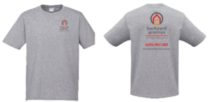 promo t-shirt front and back