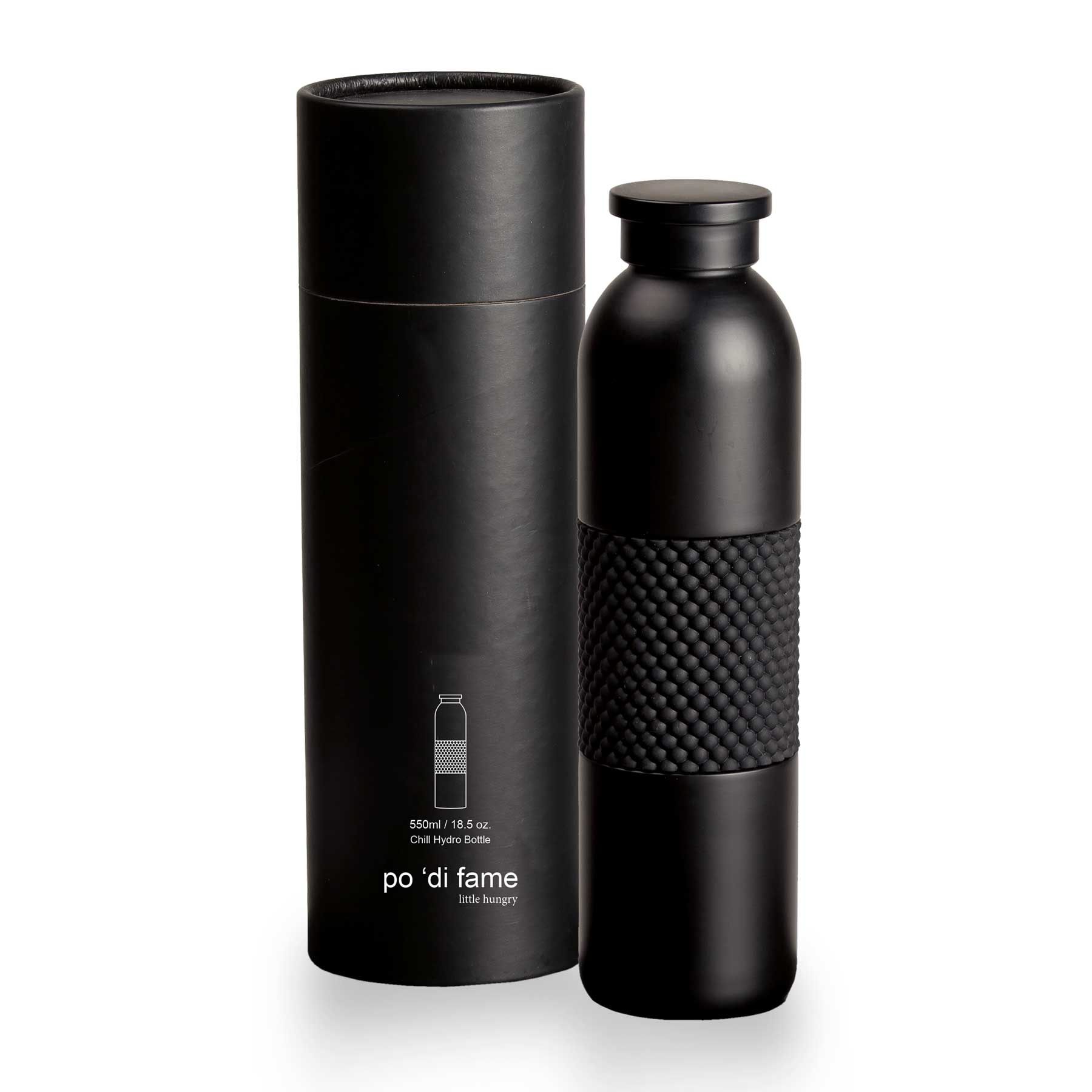chill hydro bottle with presentational tube