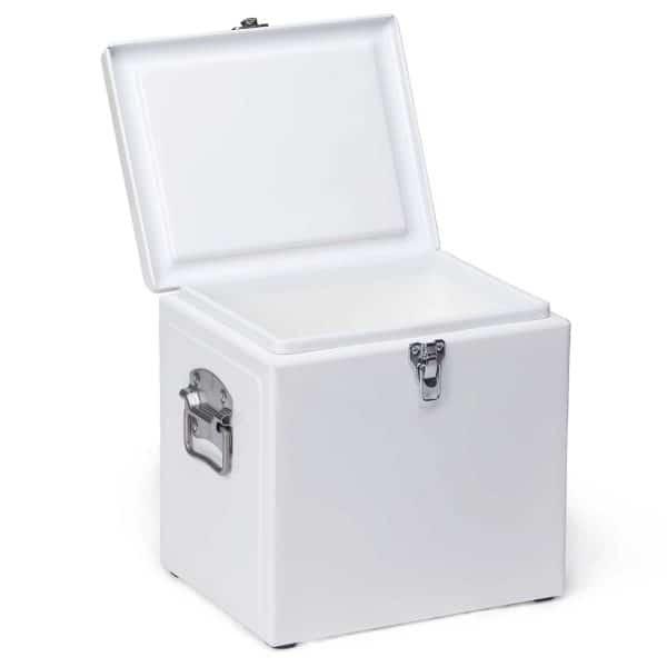 vintage cooler box open