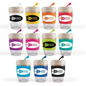Vienna Glass Eco Cup with silicone band LL0413