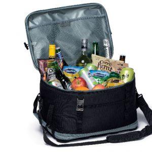 Eva Big Chill Cooler Bag open with food inside