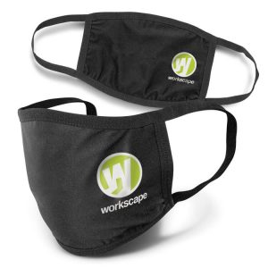 Reusable 3 ply Cotton Face Mask with branding