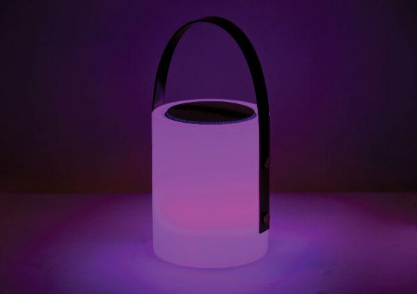 Twilight Speaker Lamp purple light