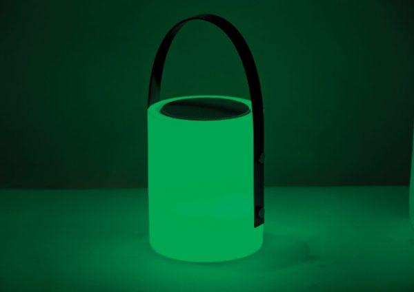 Twilight Speaker Lamp green light