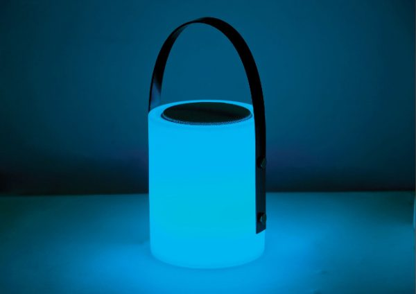 Twilight Speaker Lamp turquoise light