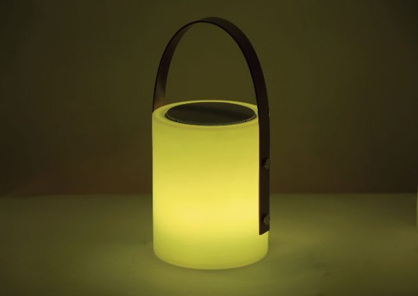 Twilight Speaker Lamp yellow light