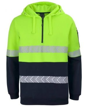 Mens Long Sleeve Hi Vis Hoodie - Bright Yellow