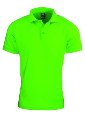 Polo Shirt Hi Vis Male Bright Green