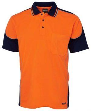 Polo Shirt Hi Vis Male Orange and Black