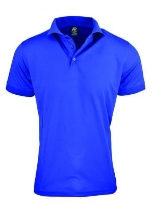 Polo Shirt Male Bright Blue