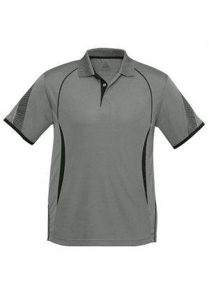 Polo Shirt Mens Black and Ash