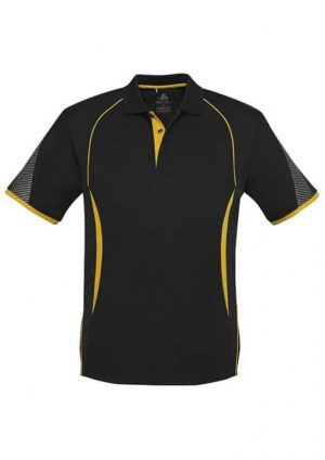 Polo Shirt Mens Black and Gold