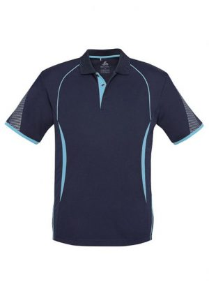 Polo Shirt Mens Navy Sky