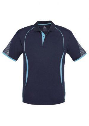 Polo Shirt Mens Navy Sky