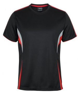 T Shirt Mens Black Red Grey