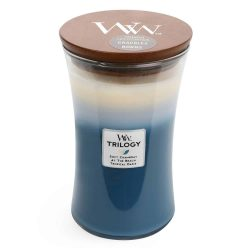 WoodWick Large Hourglass Beachfront Cottage Trilogy Candle